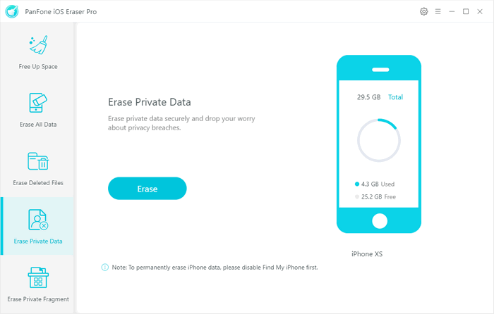 erase private data